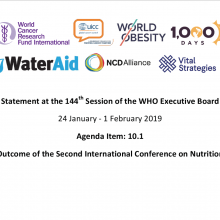144th WHO EB Statement on Item 10.1 Outcome of the Second International Conference on Nutrition