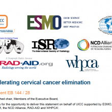 144th WHO EB Statement on Item 6.5 Cervical Cancer Elimination