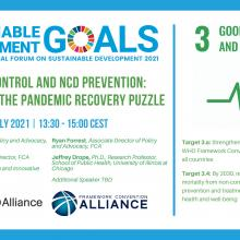 Tobacco control and NCD prevention: Key pieces of the pandemic recovery puzzle