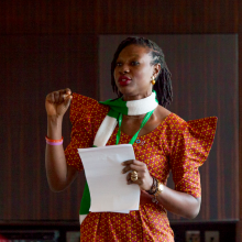 Lola James speaks at NCDA Global Forum 2015