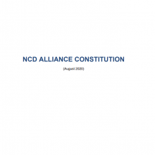NCD Alliance Constitution (August 2020)