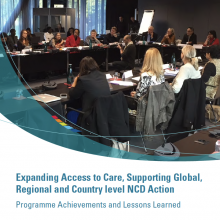 Expanding Access to Care, Supporting Global, Regional and Country level NCD Action - Programme report