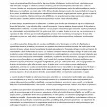 Carta abierta a los gobiernos antes de la RAN/ONU sobre CUS