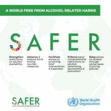 WHO launches SAFER alcohol control initiative  to prevent and reduce alcohol-related death and disability