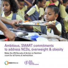 Ambitious SMART commitments to address NCDs, overweight and obesity
