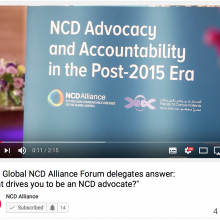 "2015 Global NCD Alliance Forum delegates answer: ""What drives you to be an NCD advocate?"""
