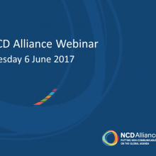 NCD Alliance Webinar, 6 June 2017