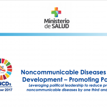 WHO Global Conference on NCDs