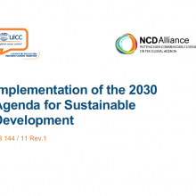 144th WHO EB Statement on Item 5.4: Implementation of the 2030 Agenda for Sustainable Development