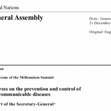 UN Secretary General's Report on Progress on the prevention and control of non-communicable diseases - December 2017