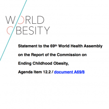 WHA69 Agenda Item 12.2 Statement on the Report of the Commission on Ending Childhood Obesity ECHO