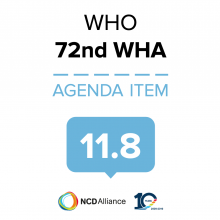 72nd WHO WHA Statement on Item 11.8 Follow-up to the high-level meeting of the UN GA on Prevention and control of NCDs (HLM3) - other NCDs