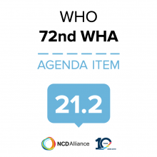 72nd WHO WHA Statement on Item 21.2 Outcome of the Second International Conference on Nutrition