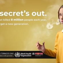 #TobaccoExposed: Nueva campaña de la OMS por una generación libre de tabaco