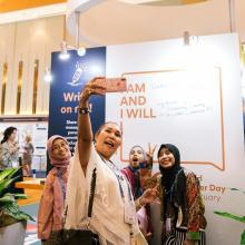 World Cancer Day 2019-2021 campaign 'I Am And I Will' launched at the 2018 World Cancer Congress in Kuala Lumpur, Malaysia © Union for International Cancer Control