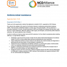 74th WHO World Health Assembly Joint Statement on Agenda Item 13.5: Antimicrobial resistance