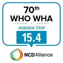 70th WHO WHA Agenda Item 15.4: Outcome of the Second International Conference on Nutrition (ICN2)
