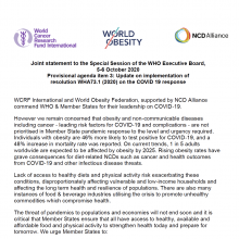 Joint statement to the Special Session of the WHO Executive Board,  5-6 October 2020