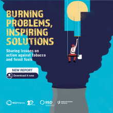 Burning problems, inspiring solutions: sharing lessons on action against tobacco and fossil fuels