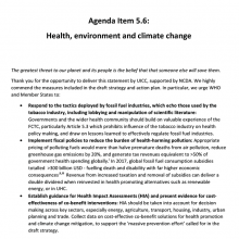 144th WHO EB Statement on Item 5.6 Health, environment and climate change