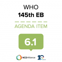 145th WHO EB Statement on Item 6.1 WHO Governance Reform Process Involvement of non-state actors
