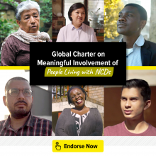 Global Charter on Meaningful Involvement of People Living with NCDs