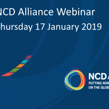 NCD Alliance Webinar, 17 January 2019