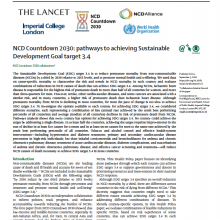 NCD Countdown 2030: Pathways to achieving Sustainable Development Goal Target 3.4