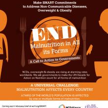 Compromisos SMART ambiciosos para abordar las enfermedades no transmisibles, el sobrepeso y la obesidad