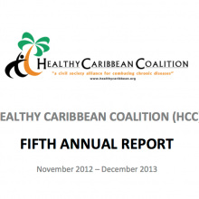 Fifth Annual Report of the Healthy Caribbean Coalition 2013