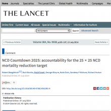 NCD Countdown 2025: accountability for the 25 × 25 NCD mortality reduction target