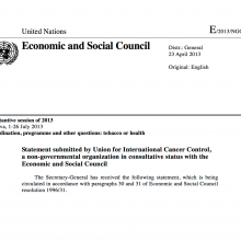 NCD Alliance ECOSOC Statement 2013
