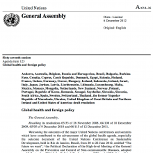 UN Global Health and Foreign Policy resolution: UHC