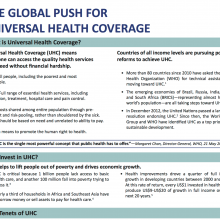 Information Sheet: The Global Push for Universal Health Coverage