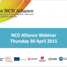 NCD Alliance Webinar, 30 April 2015 (pdf of slides)