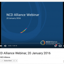 NCD Alliance Webinar, 20 January 2016 (VIDEO)