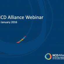 NCD Alliance Webinar, 20 January 2016 (pdf of slides)