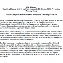 Nutrition, Physical Activity and NCD Prevention - Full briefing paper