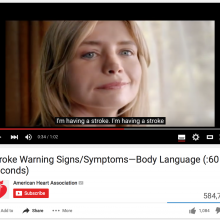 Stroke Warning Signs/Symptoms - Body Language