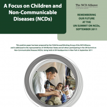 NCD Alliance publication: A Focus on Children & Non-communicable Diseases (briefing, 2011)