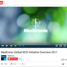 Medtronic Global NCD Initiative Overview 2011