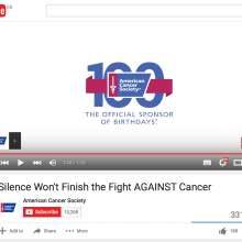 Silence Won't Finish the Fight AGAINST Cancer