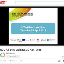 NCD Alliance Webinar, 30 April 2015 (VIDEO)