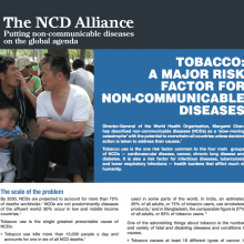 Tobacco: a major risk factor for NCDs