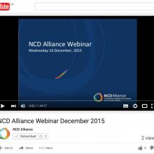 NCD Alliance Webinar, 16 December 2015 (VIDEO)