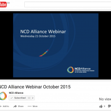 NCD Alliance Webinar, 21 October 2015 (VIDEO)