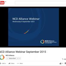 NCD Alliance Webinar, 9 September 2015 (VIDEO)