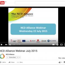 NCD Alliance Webinar, 22 July 2015 (VIDEO)