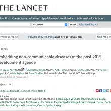 Embedding non-communicable diseases in the post-2015 development agenda