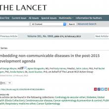 Embedding non-communicable diseases in the post-2015 development agenda